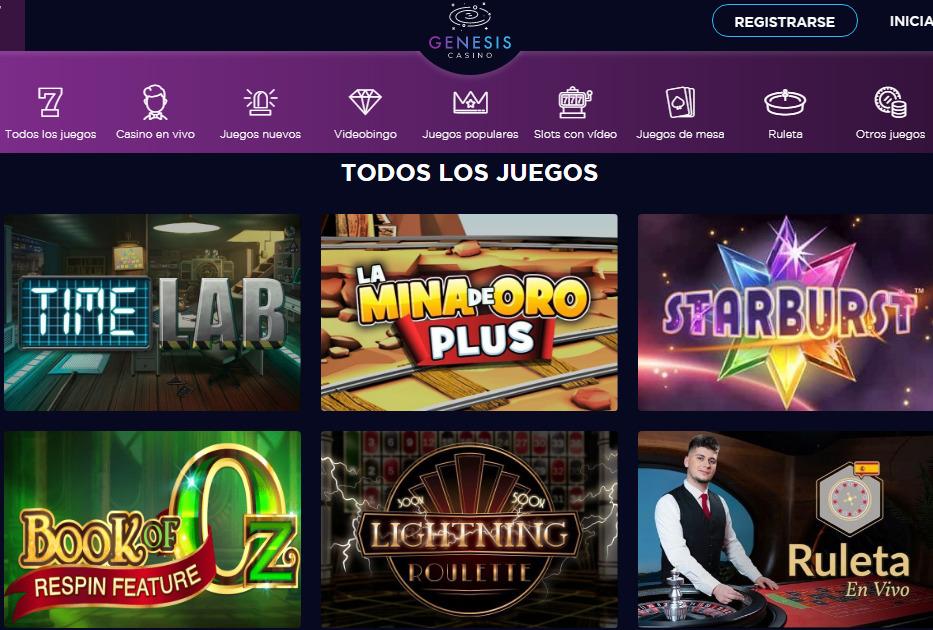 Juega y diviértete en Genesis casino online