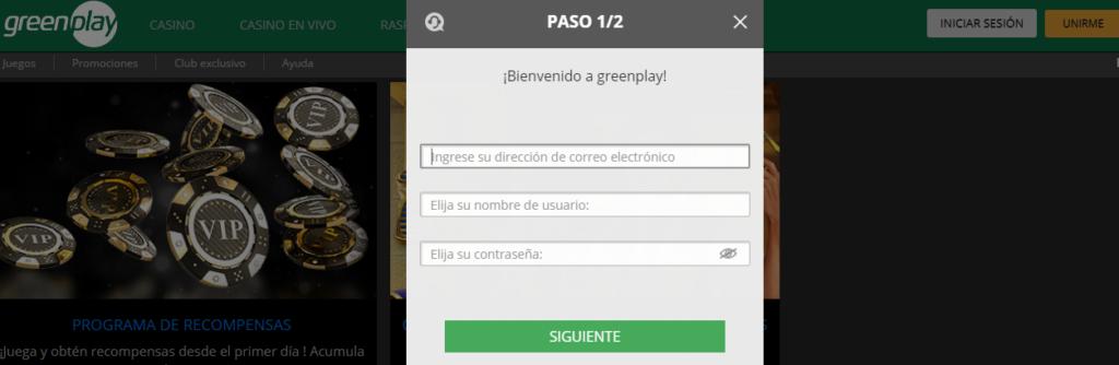 Regístrate en Greenplay casino online
