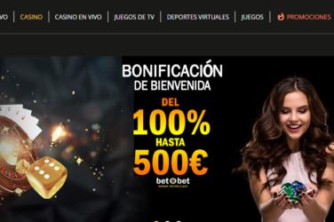 Bono de bienvenida Betobet casino Chile