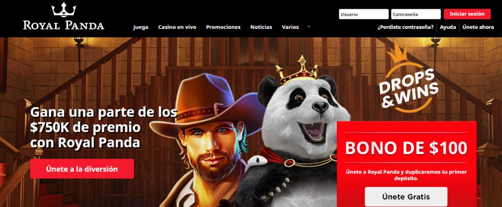 Regístrate en Royal Panda Casino Perú